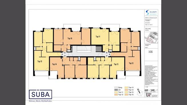 Anlage Wohnungen TrioLiving 1030 Wien